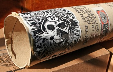 Tattoo Exhibition Frame Designs Inspired by a Shipping Tube