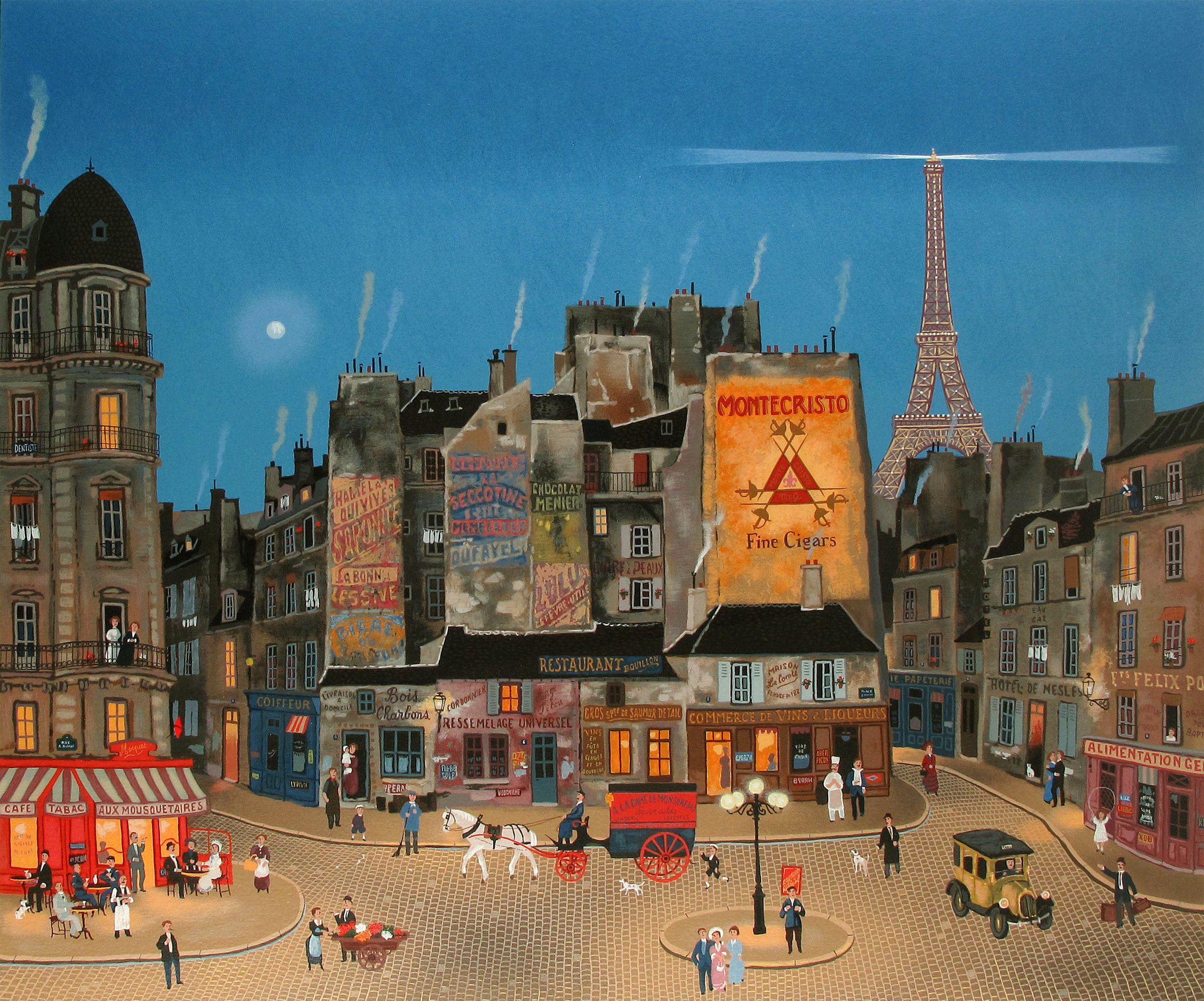 Example of a limited edition serigraph Andreas Engel produced for artist Michel Delacroix