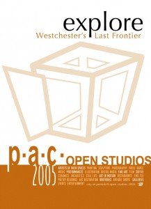Awareness campaign poster design by Andreas Engel, for Peekskill Open Studios event.