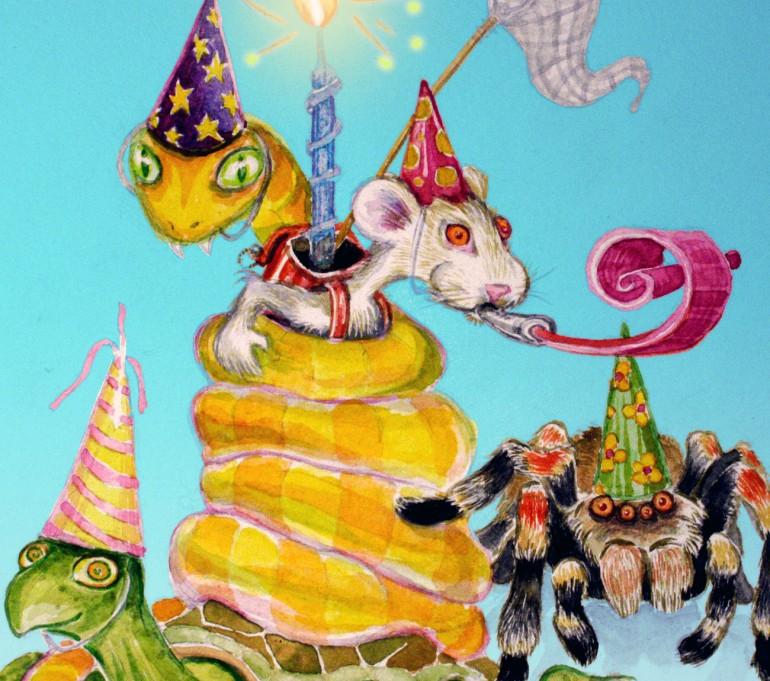 Animal Birthday Illustration