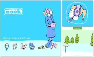 Flash E-commerce website design with original illustrations by Andreas Engel