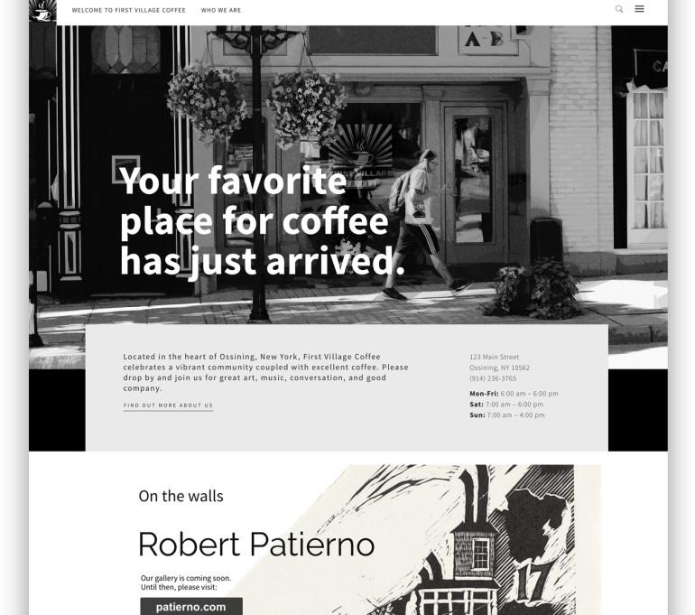 First Village Coffee Website